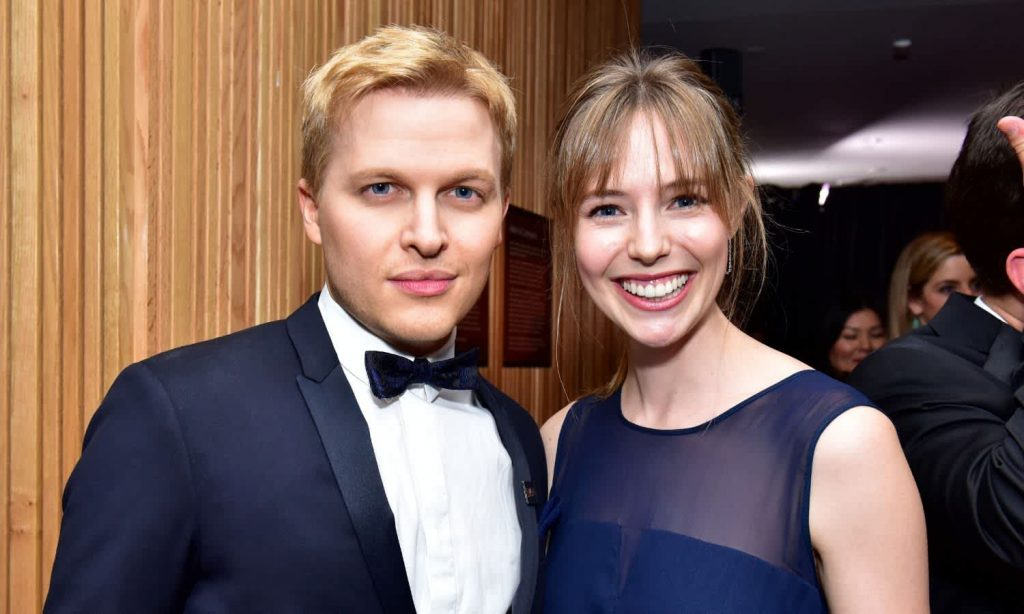 Ronan Farrow and Emily Nestor. Getty Images.